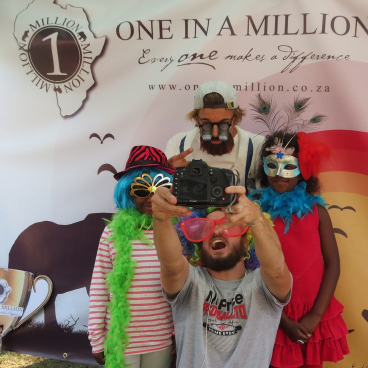 Donavan Wichman - up and coming surfer having some fun at our One in a million photo booth - helping raise funds for wildlife conservation at Mr Price Pro - #oneinamillionsa #mrpricepro