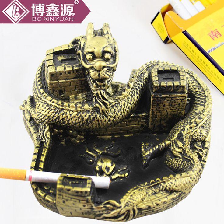 Mode personnalité créatrice cendrier gros maison de Dragon cendrier de résine cadeaux promotionnels pratiques(China (Mainland))