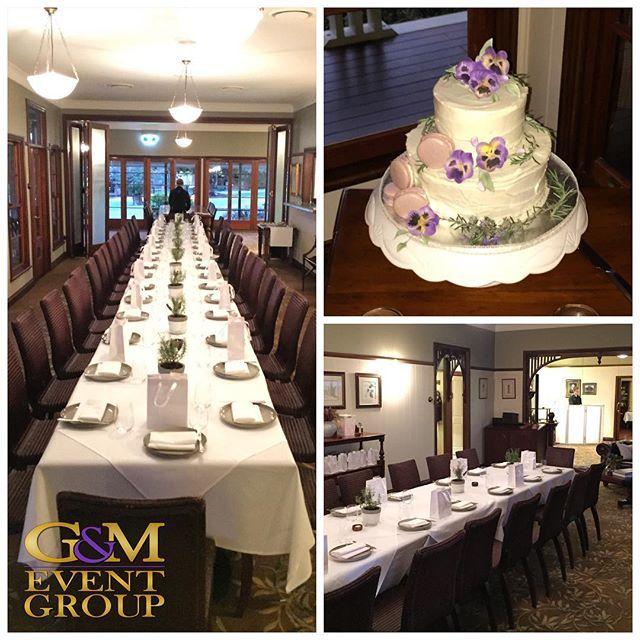 Tonight we're at @spicershiddenvale for Shannon & Kurt's #magnifiquewedding :purple_heart::purple_heart: || #MCGlennMackay #DJBenShipway #mondaynightwedding #weddingcake #queenslandweddings