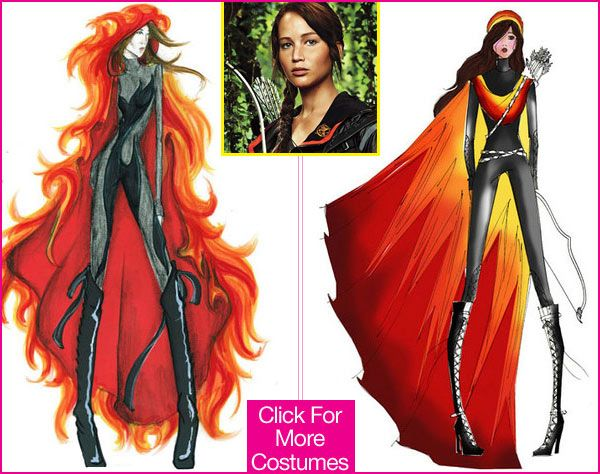 katniss katniss everdeen fire dress girl on fire hunger games hunger - Fire Girl Halloween Costume