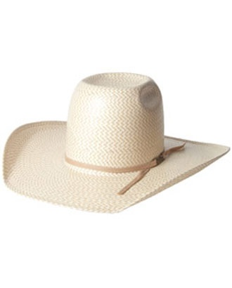 American Hat Company® Two Tone Shantung Straw Hat::Men's::Cowboy Hats::Fort Western Online