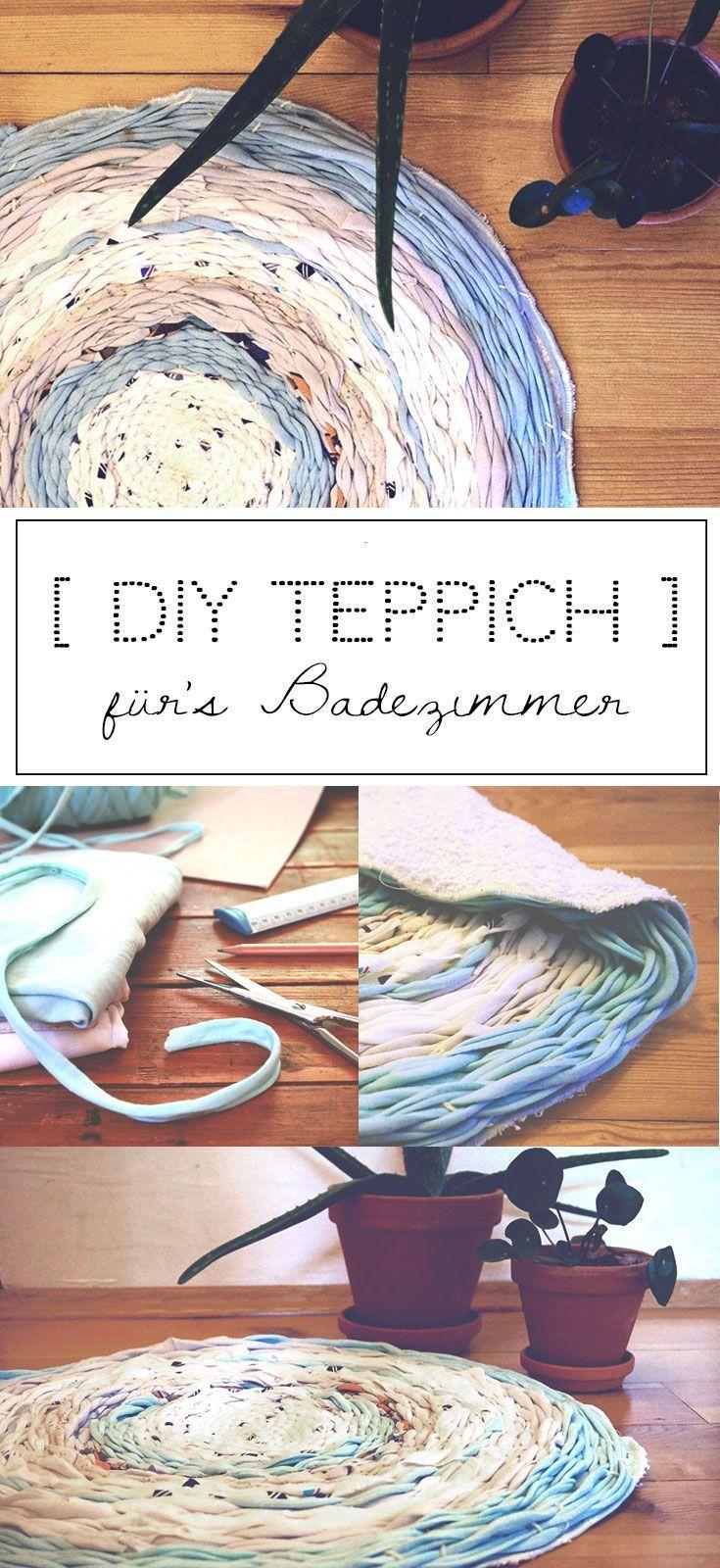 Upcycling Idee Aus Alten T Shirts Diy Teppich Fur S Badezimmer