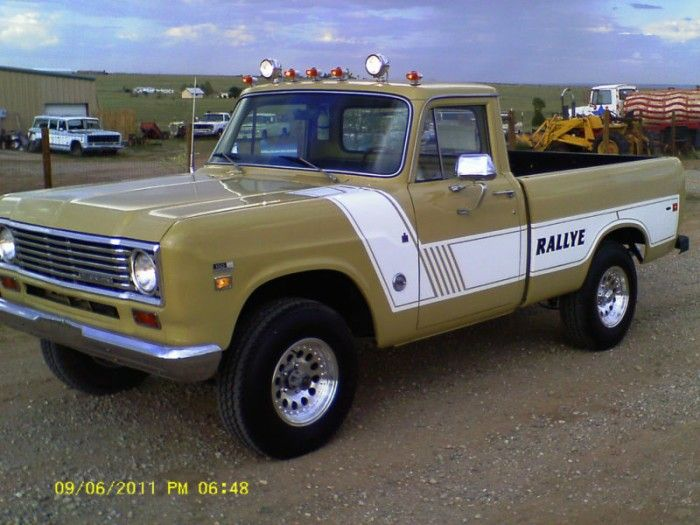 1975 International Harvester Rallye looking new as the day it came from the factory