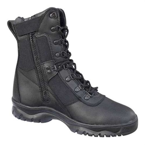 Forced Entry Black 8 Inch Tactical Boot W Side Zipper