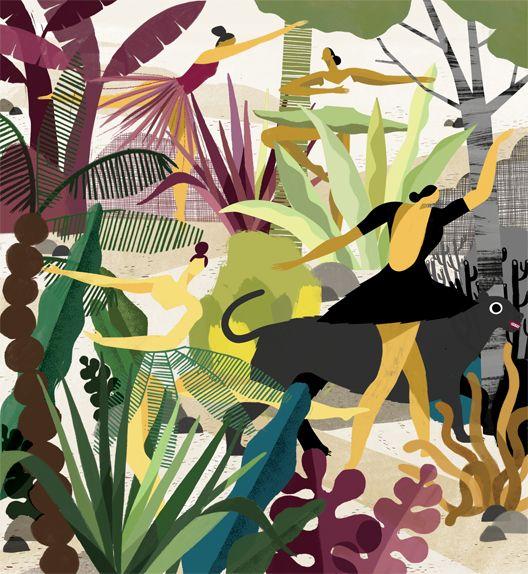Camouflage dancers for Maariv magazine. Sari-Cohen.