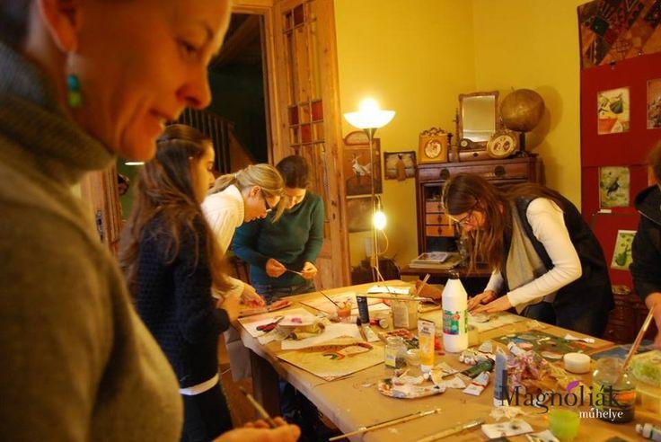 Egy szuper alkotós nap Kata műhelyében. képek forrása: Szegedi Katalin