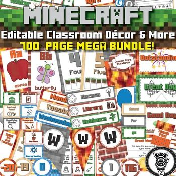 Best Classroom Theme Mine Craft Images On Pinterest Classroom - Minecraft hauser klein