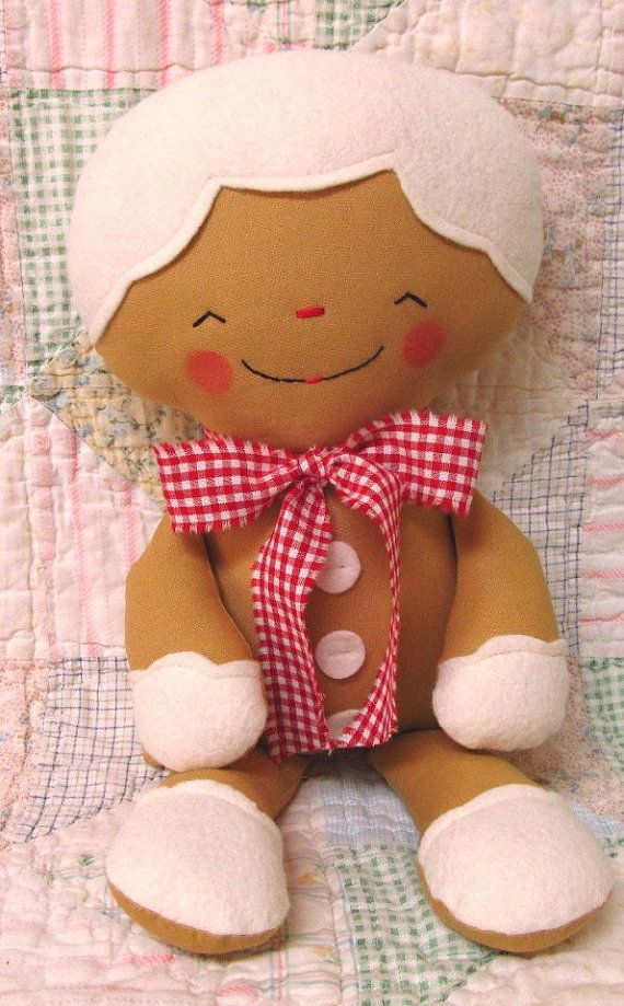 Gingerbread Man Pattern Christmas Decoration PDF by OhSewDollin, $10.00