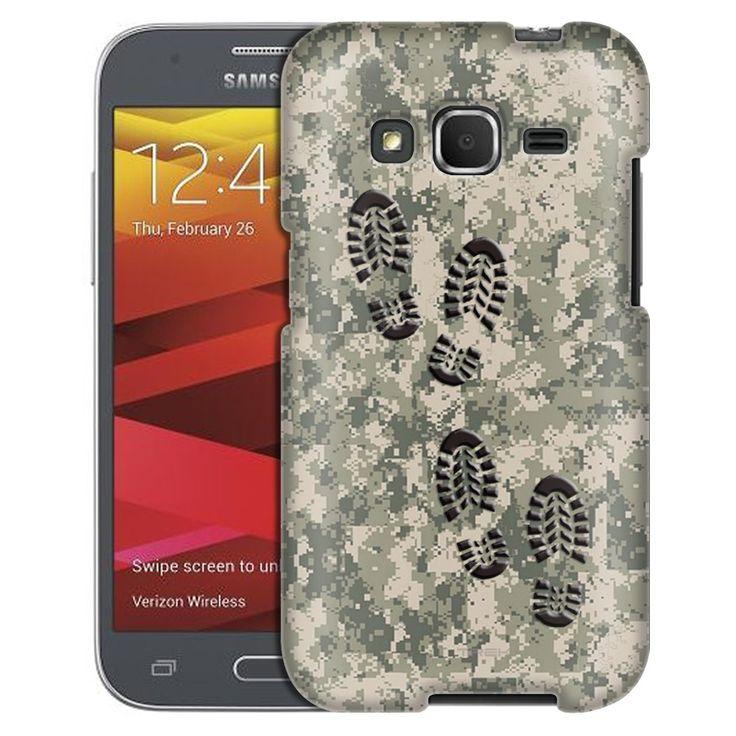 Samsung Galaxy Core Prime Footprints on Digital Tan Camouflage Case