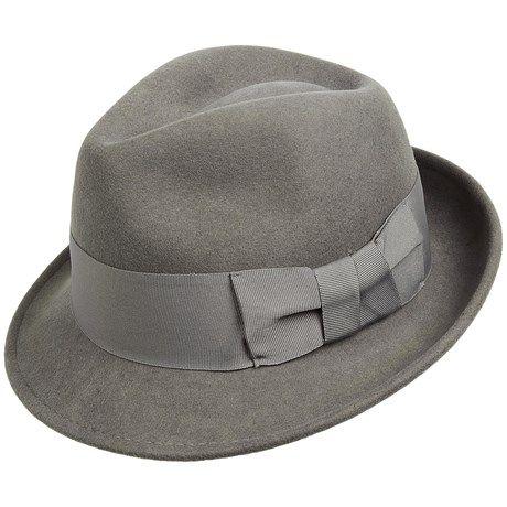 Sinatra Wool Felt Fedora Hat (For Men)