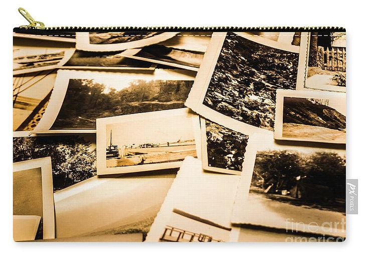 Nostalgia Carry-all Pouch featuring the photograph Lowdown On A Vintage Photo Collections by Jorgo Photography - Wall Art Gallery