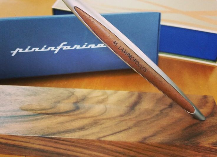 Personalised Pinifarina writing instrument. Exclusively in Type Center stores