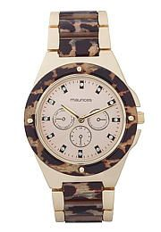 Animal Print and rhinestone embellished watch - maurices.com