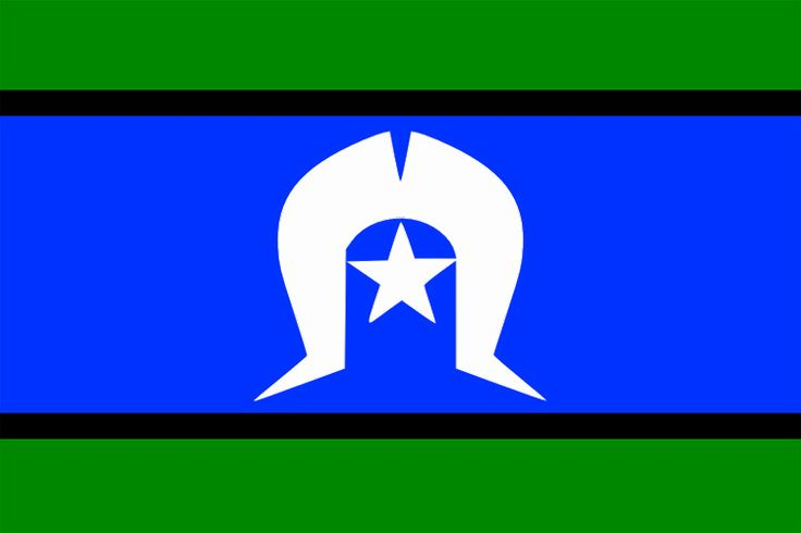 Torres Strait Islanders flag. Recognised by the Aboriginal and Torres Strait Islander Commission in 1992. The Australian Government then recognised it in 1995. The 5-pointed star represents the 5 island groups within the Torres Strait.