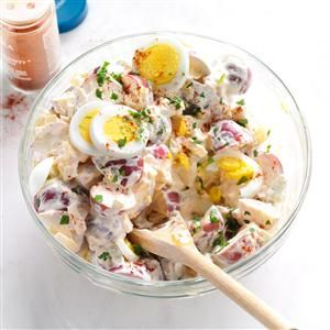 Mom's Super Stupendous Potato Salad Recipe -In college, my best friend and I debated whose mom made the best potato salad. Turns out they were almost identical! Even though I've since tweaked our recipe, it still takes me home again. —Ellie Martin Cliffe, Milwaukee, Wisconsin