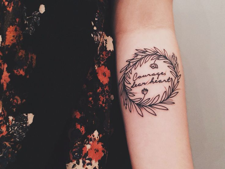Courage, dear heart #tattoo I would probably never do this ...