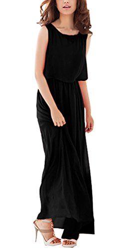Donna Vestiti Eleganti Vintage Cocktail Sciolto Estivi Impero Chiffon Delle  Lunghi Vestitini Mare Abito Vestito Vestiti 2fe88afe4f0
