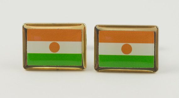 Niger Flag Cufflinks by LoudCufflinks on Etsy