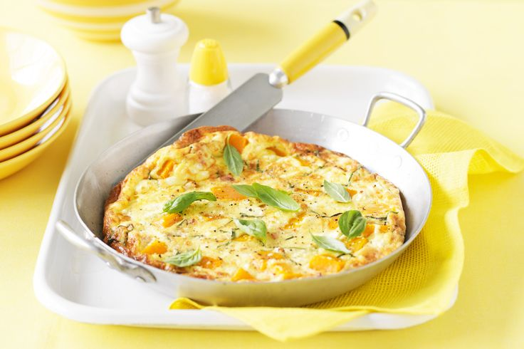 This frittata has sweet pumpkin, peppery basil and salty bacon and feeds four for only $10.