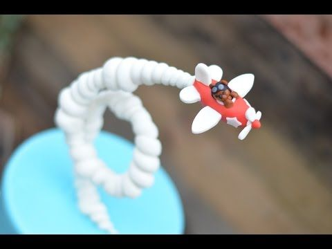 Gravity Defying Airplane Cake - YouTube
