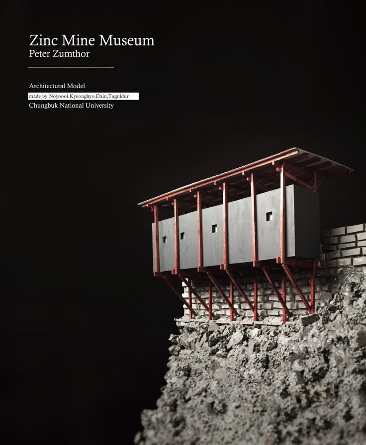 Peter zumthor zinc mine museum architectural model made by for Architecture zinc