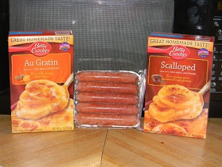 Crock Pot Scalloped Potatoes & Hot Dogs