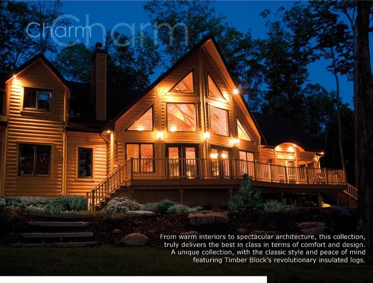 Prefab Homes Log House Kits Timberblock Home Sweet