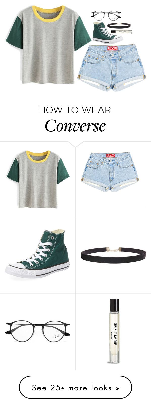 """""""star gazing"""" by lifeisnotwonderland on Polyvore featuring Converse, Ray-Ban and Humble Chic"""