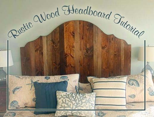 How to Create a Rustic Wood King Headboard