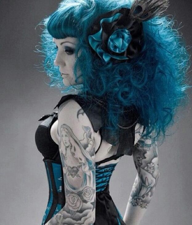 29 best images about manic panic voodoo blue on pinterest for Electric voodoo tattoo