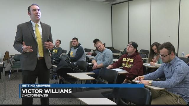 Students at a local college are getting ready for a trip to the Super Bowl. It's all part of a course that aims to prepare students for a successful career in Sports Management.