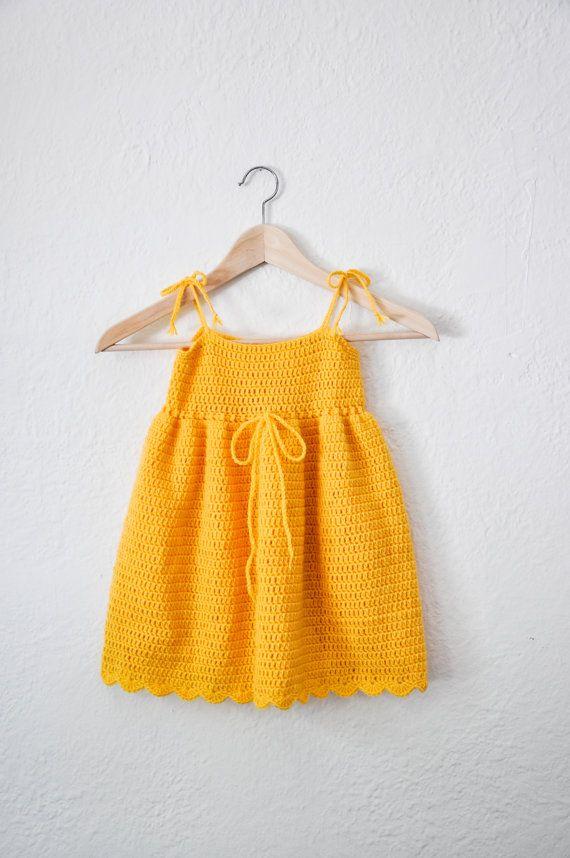 Toddler Sun Dress Yellow Summer Dress Yellow by courtneyannabanana, $40.00