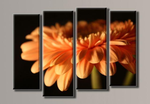 Картина модульная (69х96 см.) - Оранжевая гербера 2, Арт. HAF-021