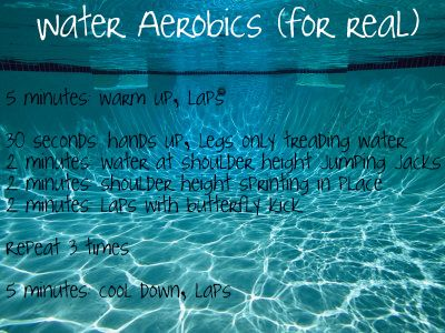 Water Aerobics low impact but actually hard workout