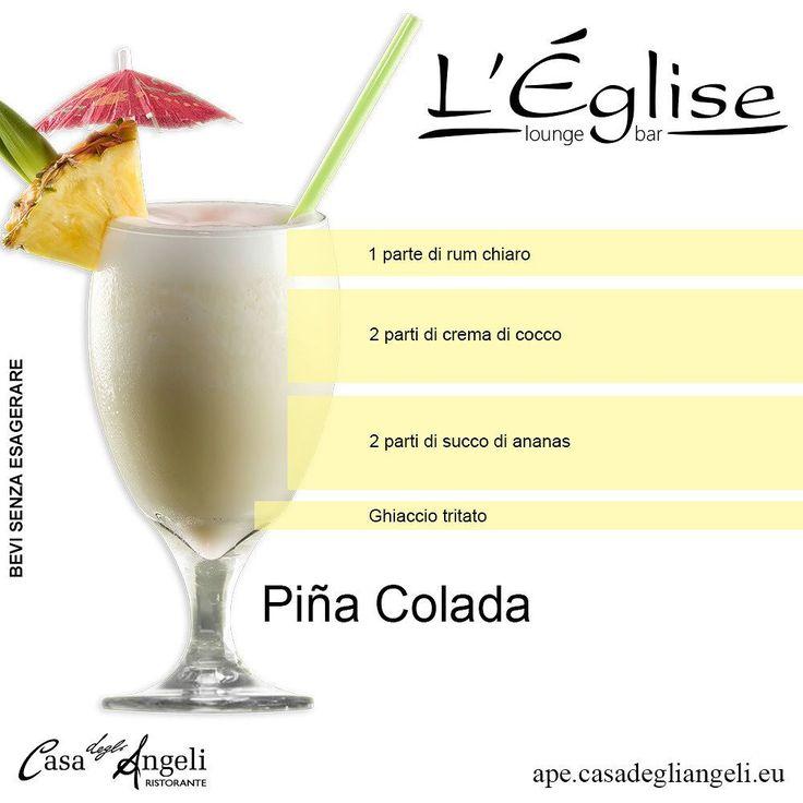 """Il Piña Colada (in spagnolo """"ananas pressato"""") è un #cocktail molto #dolce a base di #rum chiaro #latte di #cocco e succo d'#ananas (o ananas a pezzetti) originario di Porto Rico."""