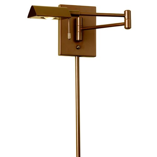 902WLED-VB | LED Swing Arm Wall Lamp with Cord Cover,Vintage Bronze Finish - 902WLED-VB