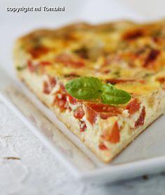 Tarte tomate, basilic et mozzarella - Recettes de cuisine Ôdélices