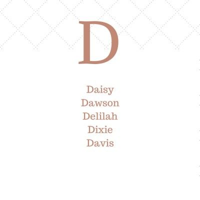Timeless Southern Baby Names That Start with D