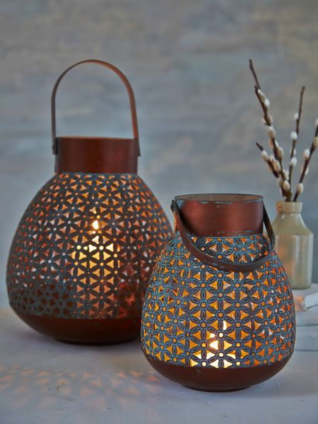 Aged Copper Lanterns