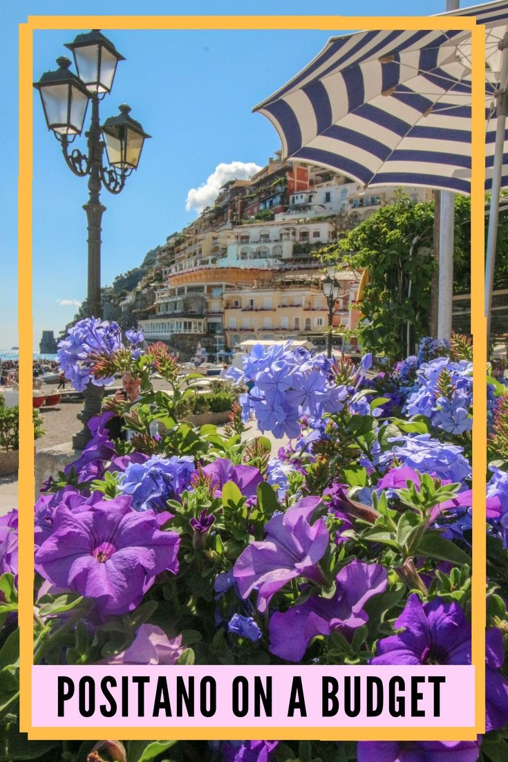 Positano on a Budget - a guide to Positano, Italy for those who can't spend much money - a one day itinerary on the luxurious and beautiful Amalfi Coast summer vacation in Italy.