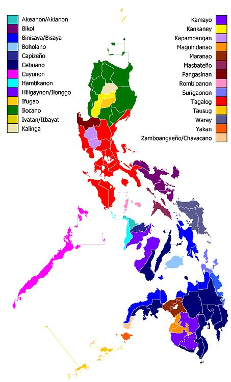 Dominant ethnic groups per province of the Philippines