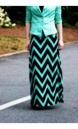 Flared Chevron Modest Long Maxi Skirt. #Apostolic #Clothing