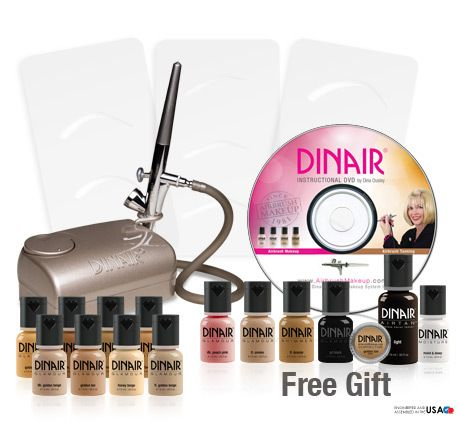 In Depth Review Of Dinair Airbrush Makeup Kit Overview What S The Box Compressor Foundation Etc