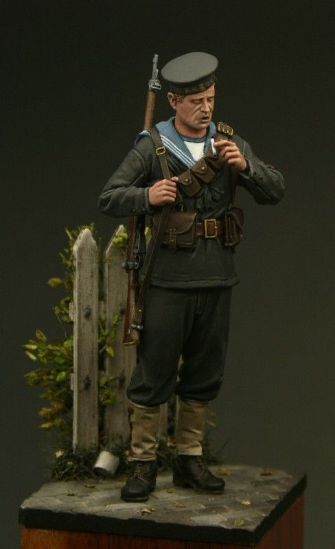 Royal Navy Rating in Antwerp from Tommy's War. An awesome 54mm resin figure. Click on the pic for more details