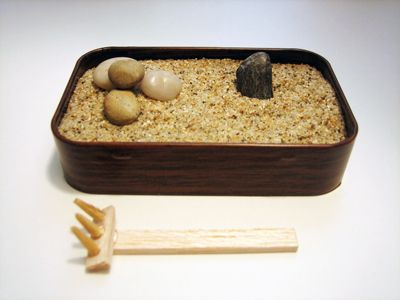 This looks simple enough for me to do. I love zen gardens.