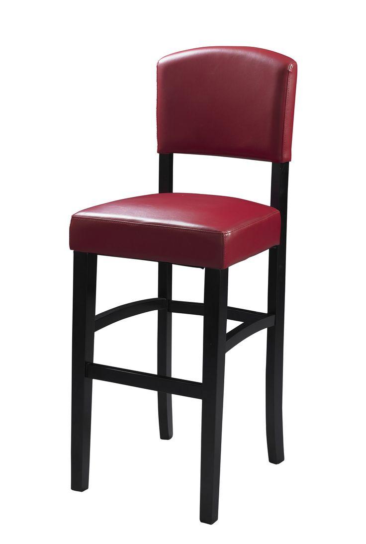 Wood swivel desk chair laquered finish warms amp padded seat ebay - Linon Monaco 24 Bar Stool With Cushion Reviews Wayfair 75