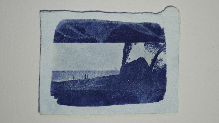 Cianotipo sobre papel