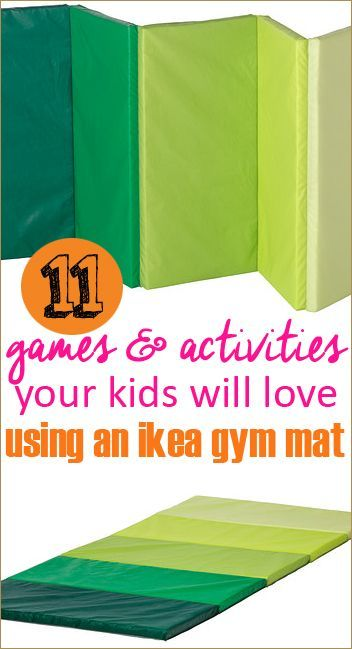 11 Gym Mat Games.  Indoor games to keep your kids entertained during the cold weather months.  Endless fun with one gymnastics mat.