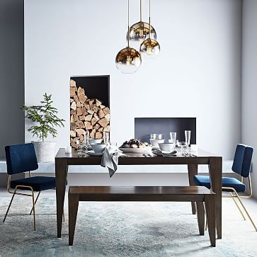 Anderson Solid Wood Dining Table - Carob #westelm