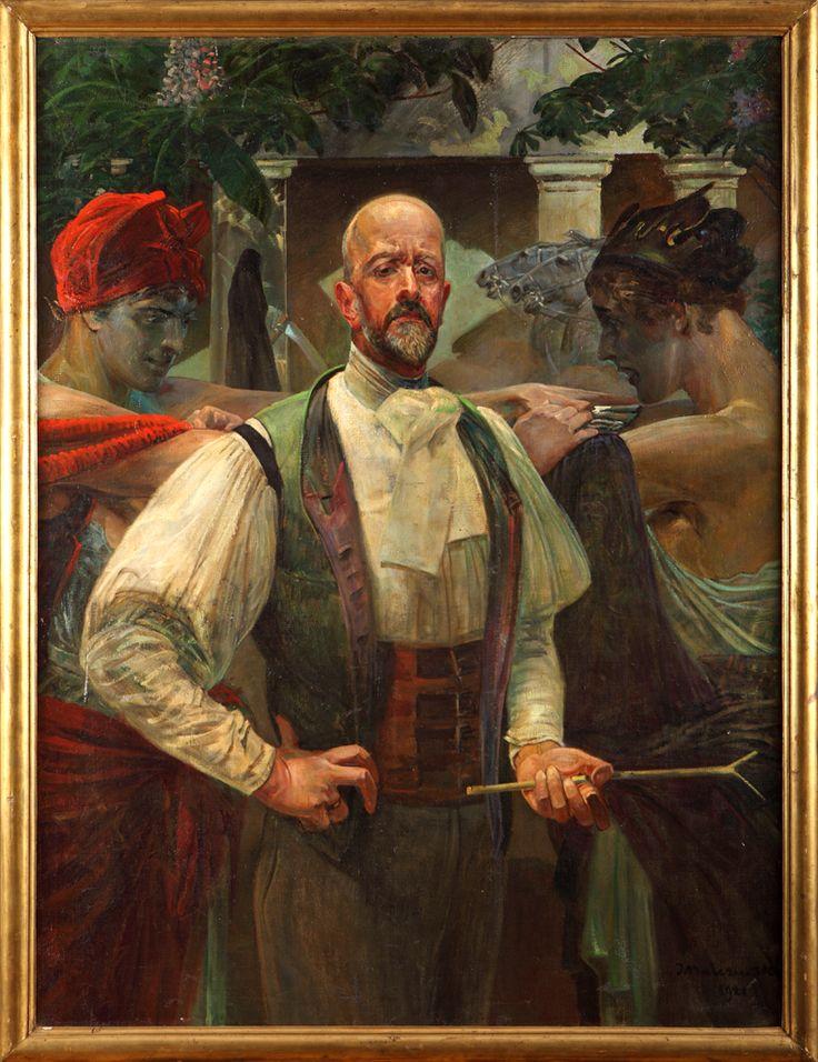 Jacek Malczewski (1854-1929), Autoportret, 1921.